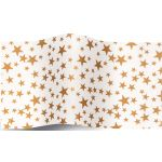 SatinWrap Gold Stars on White Tissue