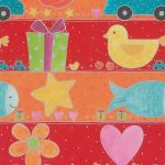 Red & Orange Childrens Print Counter Roll - Sutton's Packaging Ltd. UK